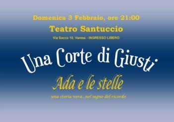 Una corte di Giusti – Ada e le Stelle, Domenica 3 Febbraio – Varese